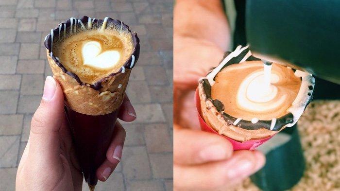 Waffle Cone, Sensasi Kopi dan Coklat bercampur Wafel ngehits di Instagram